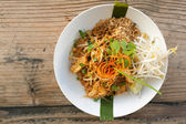 Chicken Pad Thai Top Down — Stock Photo
