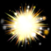Golden Solar Burst — Stock Photo