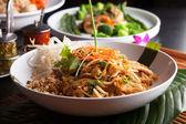 Kip pad thai close-up — Foto de Stock