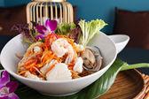 Thai Seafood Som Tum Salad — Stock Photo