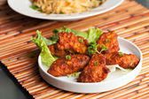 Thai Spicy Chicken Wings — Stock Photo