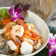 Thai Seafood Som Tum Salad — Stock Photo