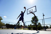 Basketball Player Silhouette — Stock Photo