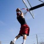 Man Dunking the Basketball — Stock Photo #9240043