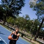 Man Playing Basketball — Stock Photo #9240264