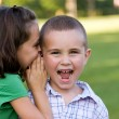 Kids Telling Secrets — Stock Photo #9240291
