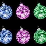 Christmas shiny balls — Stock Vector #7616016