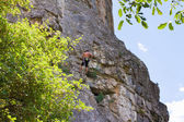 Male rock climber — Stockfoto