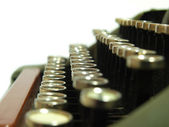 The typewriter that has been used in the last century — ストック写真