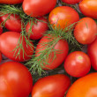 Fresh tomatoes background - Stock Photo