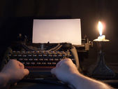 The typewriter that has been used in the last century — Stock Photo