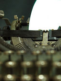 The typewriter that has been used in the last century — Foto de Stock