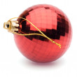Red christmas ball on white background — Stock Photo #14076555