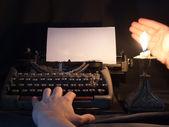 La machine à écrire qui a servi au siècle dernier — Photo