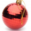 Red christmas ball on white background — Stock Photo #14542759