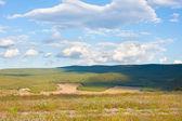 Summer view of steppe. Crimea landscape. — Stock Photo