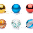 Set of christmas balls on white background — Stock Photo