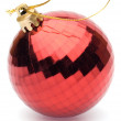 Red christmas ball on white background — Stock Photo #15824821