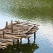 Old wooden pier - Stock Photo