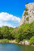 Summer view of lake. Crimea landscape. — Stock Photo