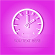 Stock Vector: Clock