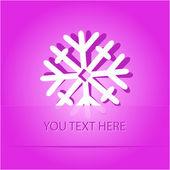 Fiocco di neve — Vettoriale Stock