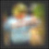 Abstract vector mosaic — Stock Vector