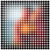 Abstract vector mosaic — Stock Vector