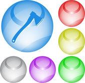 Axe. Vector interface element. — Stock Vector