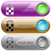 Saco. vector botões de internet. — Vetor de Stock