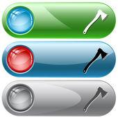 Axe. Vector internet buttons. — Stock Vector