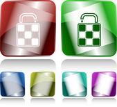 Bag. Internet buttons. Raster illustration. — Stock Vector
