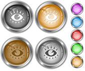 Eyes. Internet buttons. — Stockvektor