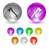 Axe. Vector interface element — Vettoriale Stock