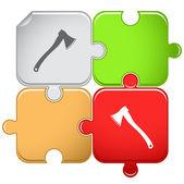 Axe. Vector puzzle. — Vetorial Stock