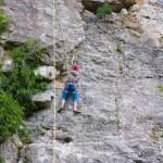 Female rock climber — Stock Photo #19797043