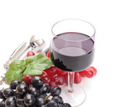 A glass of wonderful and delicious red semisweet wine — Stock Photo