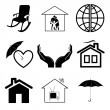 Stock Vector: Vector icons of home comfort