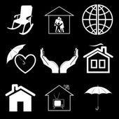 Vector iconen van home comfort — Stockvector