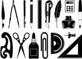 Iconos vectoriales de herramienta office — Vector de stock