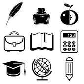Vector icons of education — Stock Vector