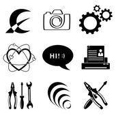 Vector icons of tool — Stock Vector