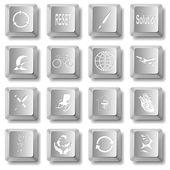 Vector set of computer keys — Stock Vector