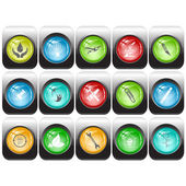 Vector set of internet buttons — Stock Vector