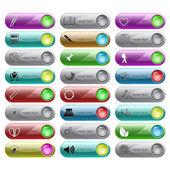 Vector set of internet buttons — Stock Vector
