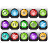 Vector set of interface elements — Stock Vector