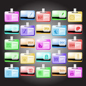 Vector set of id cards. 25 elements. — Stock Vector