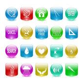 Vektor uppsättning av element i användargränssnittet — Stockvektor