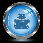 Inkstand. Internet button. Vector illustration. — Stock Vector