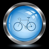 Bicycle. Internet button — Stock Vector